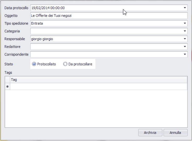 Pitagora: gestione documentale plugin Outlook